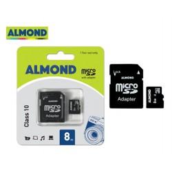 ΜΝΗΜΗ MICRO SDHC ΜΕ ΑΝΤΑΠΤ. MSD  8GB ALMOND